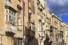 Via a La Valletta, Malta Immagini Stock Libere da Diritti