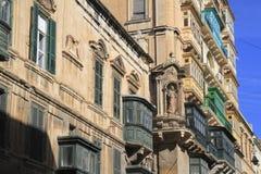 Via a La Valletta, Malta Immagine Stock