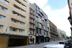 Via Laietana, Barcelona Old City, Spain Stock Photo