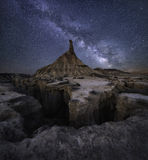 Via Lattea del deserto Fotografie Stock
