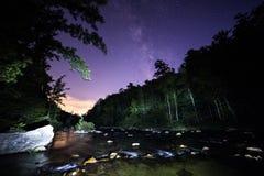Via Lattea della spiaggia della montagna di Brown Fotografia Stock