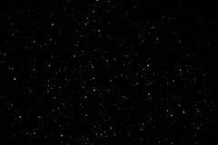Via Lattea di Snowy nel cielo notturno Immagine Stock