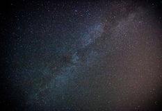 Via Lattea e cielo stellato Immagini Stock