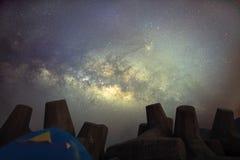 Via Lattea in Hong Kong immagini stock