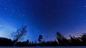 Via Lattea nel cielo notturno. Fisheye. Lasso di tempo archivi video