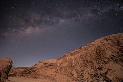 Via Lattea sopra il deserto di Atacama, Cile Immagini Stock