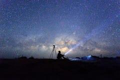 Via Lattea sul cielo Fotografia Stock Libera da Diritti