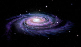 Via Láctea da galáxia espiral Fotografia de Stock Royalty Free