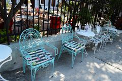 Via in Limenas, Thassos immagini stock libere da diritti