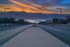 Via locale che funziona al Mar Rosso Fotografia Stock