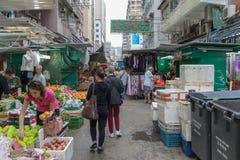 Via locale del mercato Fotografie Stock