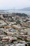 Via lombarda sulla collina russa San Francisco, California Immagini Stock