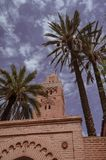 Via, Marocco, blu, Medina, Marrakesh immagine stock libera da diritti