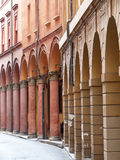 Via Marsala, Bologna. A portico very typical of those that line many of Bologna's ancient streets Stock Images