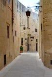 Via in Mdina, Malta Fotografia Stock Libera da Diritti