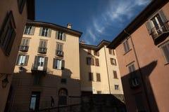Via medievale a Bergamo, Lombardia, Italia Immagine Stock