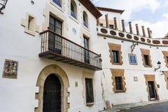 Via medievale nella vecchia città di Sitges, Spagna Immagine Stock Libera da Diritti