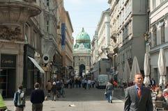 Via medievale, Vienna immagini stock