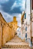 Via in Medina in Susa, Tunisia Fotografia Stock