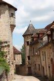 Via medioevale Curemonte Fotografia Stock Libera da Diritti