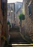 Via medioevale del sul Trasimeno, Umbria, esso di Borgo Fotografia Stock Libera da Diritti