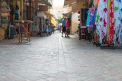 Via mediterranea tradizionale Fotografia Stock Libera da Diritti