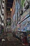 Via Melbourne HDR di Graffity del vicolo di Rutledge Immagini Stock