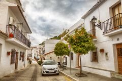 Via a Mijas, Spagna Fotografia Stock Libera da Diritti