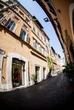 Via minuscola a Roma Fotografie Stock