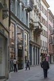Via Nassa in Lugano Stock Photos
