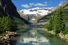 Via navegável a Lake Louise. Imagem de Stock