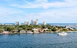 Via navegável litoral inter no Fort Lauderdale, Florida imagem de stock