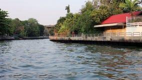 Via navegável cênico em Banguecoque, Tailândia video estoque