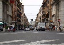 Via Nazionale is a street in Rome from Piazza della Repubblica leading towards Piazza Venezia Royalty Free Stock Photo