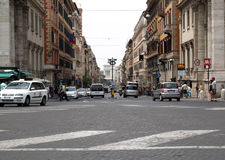 Via Nazionale is a street in Rome Royalty Free Stock Photo