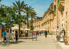 Via nel centro storico di La Valletta Fotografie Stock