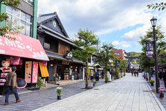 Via nel fron di Dazaifu Tenmangu Fotografia Stock