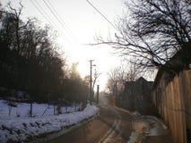 Via nella città Fotografie Stock Libere da Diritti