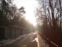 Via nella città Fotografia Stock