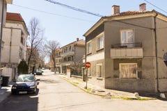 Via nella città bulgara di Pomorie Fotografia Stock