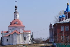 Via nella città di Kolomna nella regione di Mosca Fotografia Stock