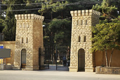 Via nella città di Mardakan l'azerbaijan fotografie stock