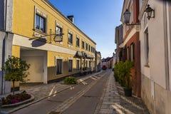 Via nella città di Melk in Austria fotografia stock