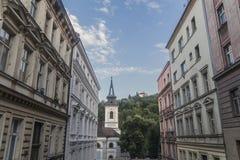 Via nella città di Praga fotografie stock