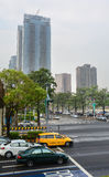 Via nella città di Taipei, Taiwan Fotografie Stock Libere da Diritti