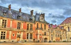 Via nella vecchia città dei Sen - Francia fotografia stock