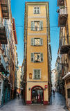 Via nella vecchia città di Nizza in Francia Fotografia Stock Libera da Diritti