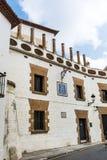 via nella vecchia città di Sitges, Spagna Fotografia Stock Libera da Diritti