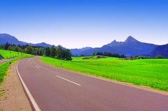 Via nelle montagne della Baviera Immagine Stock