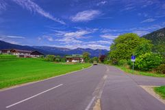 Via nelle montagne della Baviera Fotografie Stock